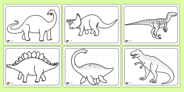 Dinosaurs Colouring Sheets - education, home school, free, fun