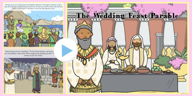 The Wedding Feast Parable PowerPoint - parables, wedding feast