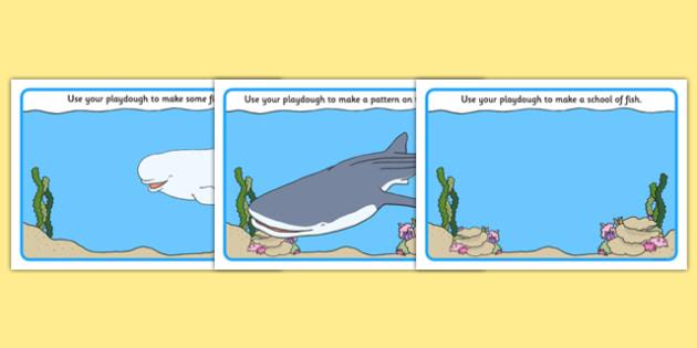 Under the Sea Adventure Playdough Mats - finding dory, finding nemo, under the sea adventure, fish, ocean, water