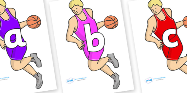 Phoneme Set on Basketball Players - Phoneme set, phonemes, phoneme, Letters and Sounds, DfES, display, Phase 1, Phase 2, Phase 3, Phase 5, Foundation, Literacy