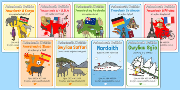 Travel Agents Display Posters Welsh Translation - roleplay, EAL