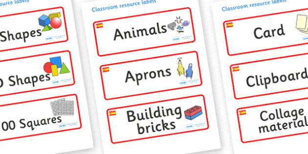 Spain Themed Editable Classroom Resource Labels - Themed Label template, Resource Label, Name Labels, Editable Labels, Drawer Labels, KS1 Labels, Foundation Labels, Foundation Stage Labels, Teaching Labels, Resource Labels, Tray Labels, Printable lab