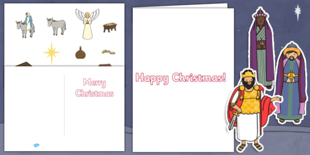 How To Make your Own Nativity Christmas Cards - christmas, nativity