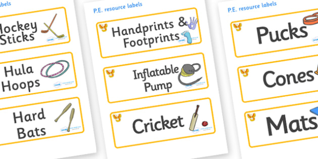 Phoenix Themed Editable PE Resource Labels - Themed PE label, PE equipment, PE, physical education, PE cupboard, PE, physical development, quoits, cones, bats, balls, Resource Label, Editable Labels, KS1 Labels, Foundation Labels, Foundation Stage La