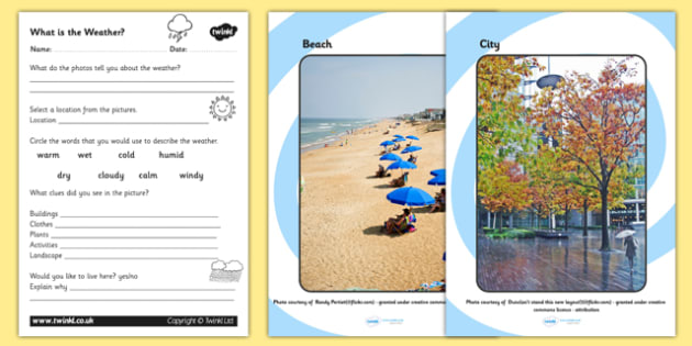 What is the Weather Display Photos and Worksheet - what is weather, what is the weather pack, what is weather photos and worksheet, weather worksheet, ks2