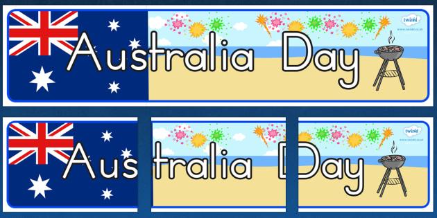 Australia Day Display Banner - australia, banner, display banner