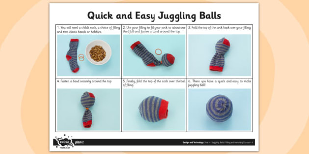 Activity Sheet Quick and Easy Juggling Balls - activity, juggling, worksheet