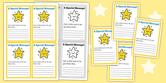 Special Messages Note Cards - special, messages, note, cards
