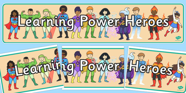 Learning Power Heroes Display Banner - learning, heroes, display banner