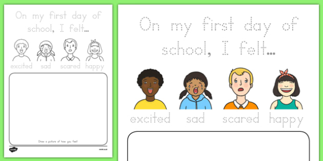Back to School Feelings Activity Sheet, worksheet