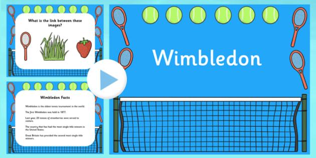Wimbledon PowerPoint - wimbledon, wimbledon 2013, wimbledon slideshow, wimbledon information powerpoint, wimbledon tournament powerpoint