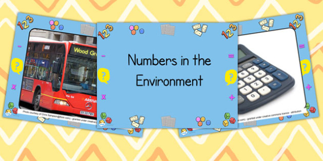 Numbers in the Environment Photo PowerPoint - numbers, numbers in the environment, numbers in real life, numbers in photographs, number photographs, maths