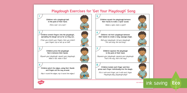 'Get Your Playdough' Playdough Exercises Adult Guidance - Playdough Play, dough disco, finger gym, fine motor skills, physical development