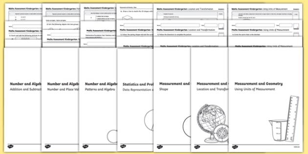 Kindergarten Mathematics Assessment Pack