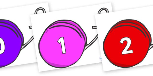 Numbers 0-31 on Yo Yos - 0-31, foundation stage numeracy, Number recognition, Number flashcards, counting, number frieze, Display numbers, number posters