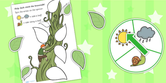 Jack And The Beanstalk Sticking Game - traditional tales, games