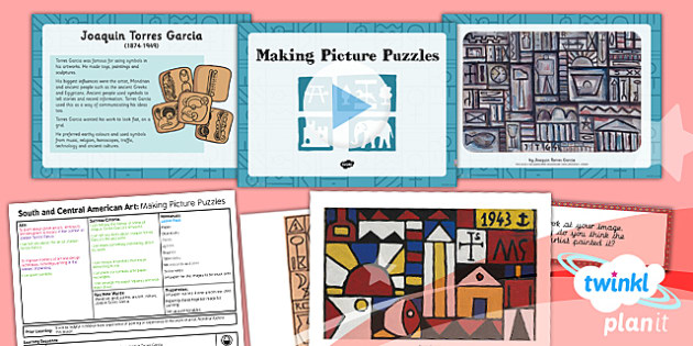 Art: South and Central American Art: Making Picture Puzzles UKS2 Lesson Pack 2