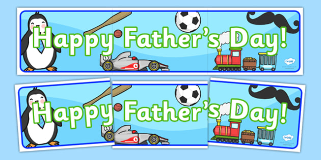 Happy Fathers Day Display Banner - dad, father, header, display
