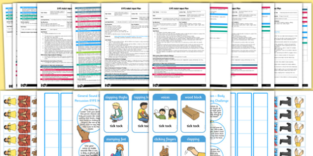 EYFS Aspect 3: Body Percussion Adult Input Planning and Resource Pack