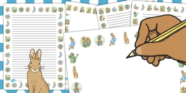 The Tale of Peter Rabbit Page Borders - page border, peter rabbit
