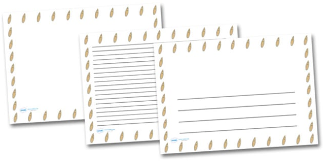 Surfboard Landscape Page Borders- Landscape Page Borders - Page border, border, writing template, writing aid, writing frame, a4 border, template, templates, landscape