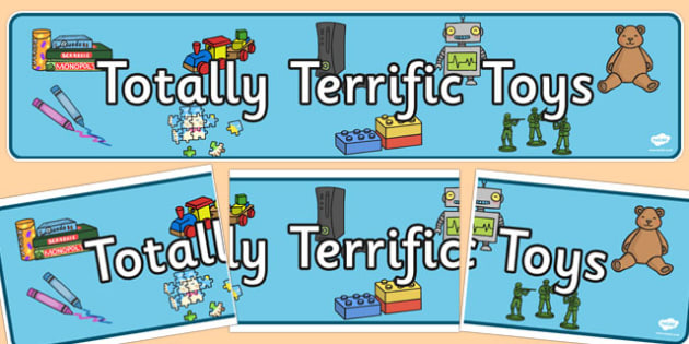 Totally Terrific Toys Display Banner - terrific, toys, display banner