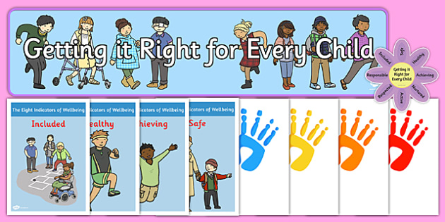 Getting it Right for Every Child Display Pack - displays, posters