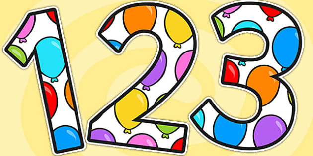 Balloon A4 Display Numbers Numbers - balloon, numbers, display