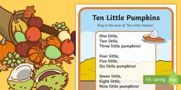 Ten Little Pumpkins Song Lyrics