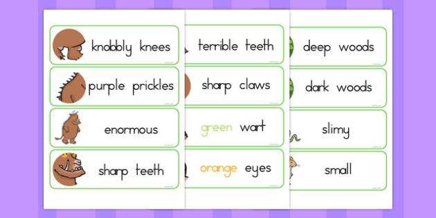 The Gruffalo Description Words Display - australia, gruffalo