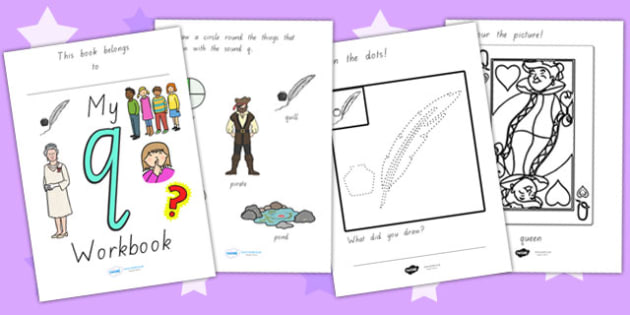 My Workbook Q Lowercase - letter formation, writing, tracing