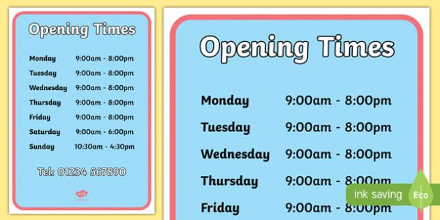 Pet Shop Opening Times - Pet shop, pets, pet, role play, pets role play, Opening Times, open, cat, dog, rabbit, mouse, guinea pig, rat, hamster, gerbil, horse, puppy, kitten, snake, chinchilla, snail, lizard, budgie