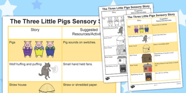 The Three Little Pigs Sensory Story - australia, sensory story, sensory, story