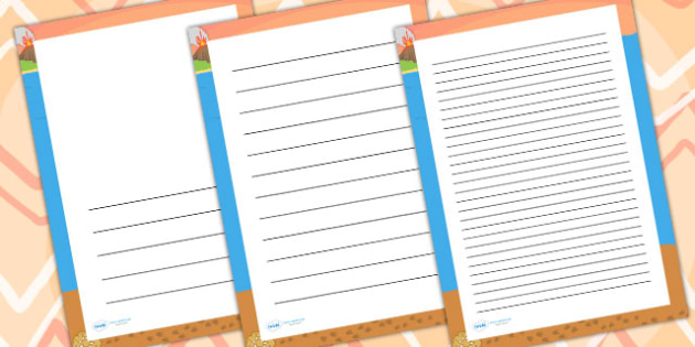 Dinosaur Footprint Page Borders - writing templates, writing
