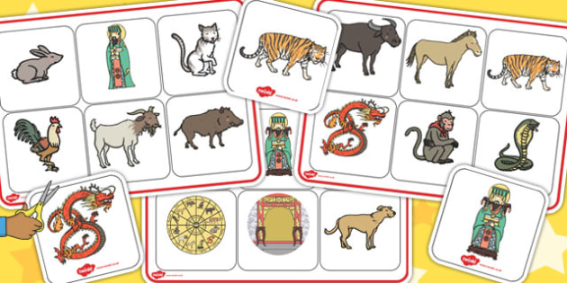 Chinese New Year Story Matching Mat SEN - matching mat, sen, year