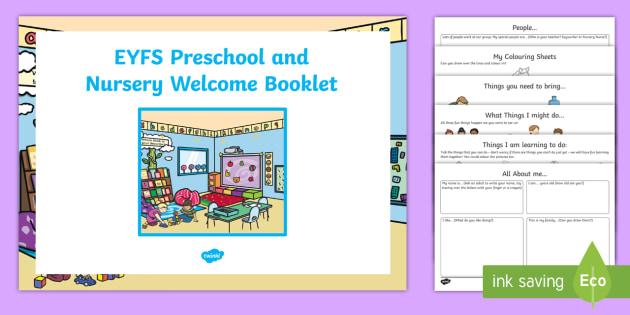 Nursery/Pre-School Welcome Pack - Starting School Welcome Pack