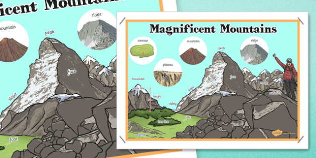 Magnificent Mountains Display Poster - magnificent, mountains