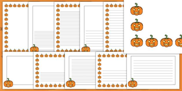 Halloween Pumpkin Page Border Pack