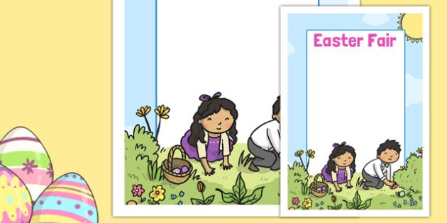 Easter Fair Editable Poster - easter fair, easter fayre, fair, fayre, easter, editable poster