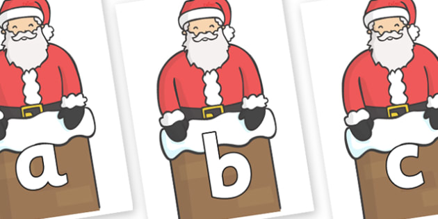 Phoneme Set on Santa (Chimney) - Phoneme set, phonemes, phoneme, Letters and Sounds, DfES, display, Phase 1, Phase 2, Phase 3, Phase 5, Foundation, Literacy
