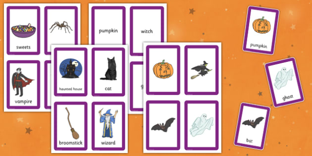 Halloween Pairs Matching Game - games, activities, activity