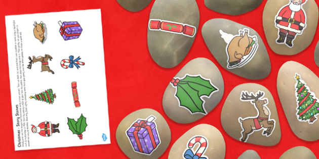 Christmas Story Stone Image Cut Outs - christmas, story stone, image, cut outs