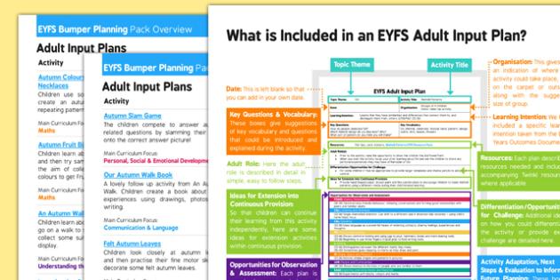 EYFS Autum Themed Bumper Planning Pack Overview - eyfs, autumn, bumper, planning pack, overview