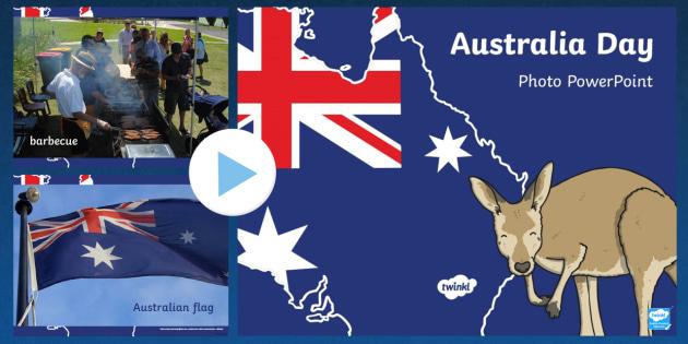 Australia Day Photo PowerPoint - australia, day, photo, slides