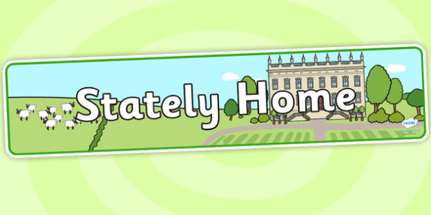 Stately Home Role Play Banner - stately home, role play, stately home banner, stately home display banner, stately home role play