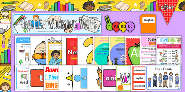 KS1 English Working Wall Display Pack