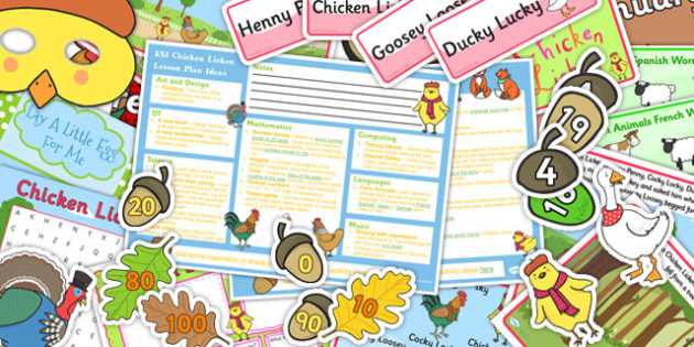 Chicken Licken KS1 Lesson Plan Ideas and Resource Pack - lesson