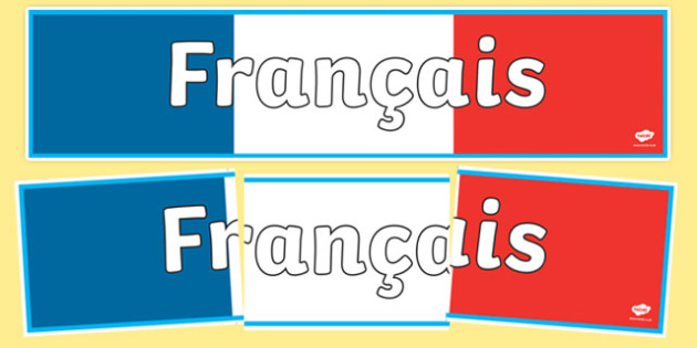 French Display Banner (francais) - MFL, French, Modern Foreign Languages, francais, foundation, languages, display, banner, display