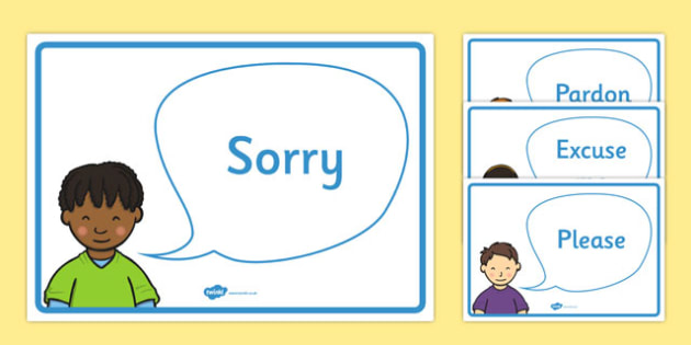 Good Manners Vocabulary Display Posters - Good manners, please, thank you, polite, excuse me, pardon, vocabulary, display, poster