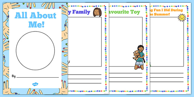 All About Me EYFS Transition Booklet - all about me, eyfs, transition